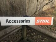 Vintage Stihl Chainsaw Accesories Advertising Dealer Sign Gas Oil Soda Tools