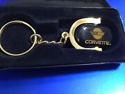 Nib Chevy Goldtone Key Chain Key Ring New In Box. Hard To Find. Hefty Strong