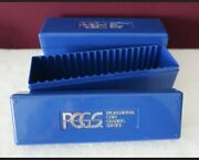Lot Of 2 Blue Pcgs Boxes - Each Box Holds 20 Pcgs Capsules - No Coins Included
