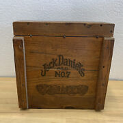 Vintage Jack Daniels Dovetail Crate Wooden Box Lynchburg Tennessee Cool Look