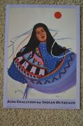 Signed Dana Tiger Lisa Tiger Native American Poster Art Courage And Culture