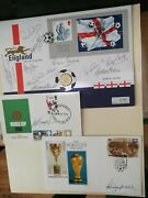 England 1966 Winning Team Bobby Moore And Alf Ramsey Signed First Day Covers