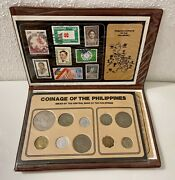 Rare Uncirculated Philippines Pearl Of The Orient Seas Coin Portfolio Stamps Set