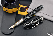 Omas The Paragon Wild Celluloid Fountain Pen W/ .925 Silver Fittings And 18k M Nib