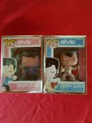 Funko Pop 1950and039s Elvis 02 + 1970and039s Elvis 03 Vaulted + Graal Protector