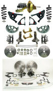 Front And Rear Disc Brake Conversion Kit W Tubular Control Arms And Fr Coil Over