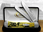 Case Xx Yellowhorse Early Morning Singer Trapper Knives 1