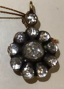 Antique Old 8k Yellow Gold Diamond Pendant For Neclace 3 Carat Super Nice