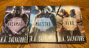 Rarehomecoming Trilogy R.a. Salvatore 1st Editions Signed 3bookplates/ Coa
