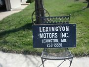 Vintage Original Lexington Motors Inc. Lexington Mo. Wood Trade Sign 16 X 29