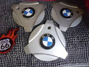 Lot Of 3 Tri-bar Bmw Other Unknown Brands Wheel Center Caps 6 Cir X 8 Bars