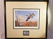 1987 Ducks Unlimited Larry Toschik Signed Canada Geese, 2205/5000 With Coa
