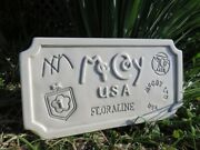 Rare And Htf Vintage Mccoy Pottery Dealer's Sign, Signed And Numbered By Mccoy's