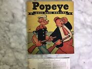 Vintage 1937 King Feature Syndicate Popeye Linen Book Whitman 884 Duck Hunting