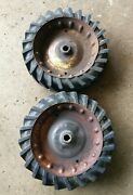 Pair Of Vintage 12 Dia X 3.5 W Solid Rubber Ag Tires For Tiller Or Snowblower