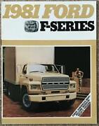 Ford F-series Usa Commercial Sales Brochure Aug 1980 Fdt-8117 8/80