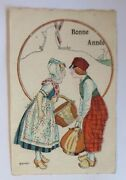 New Year, Women, Men's,traditional Costume,wooden Shoes 1923, Sig. Herouard
