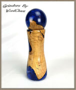 Pepper Mill Grinder Peppermill Maple Wood Resin Wooden Handmade See Video 514