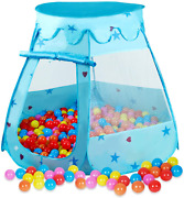 Play Tent For Kids With Lights Hair Hoop Wind Bell Princess Pop Up Pink Toys New