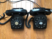 Pair Of Vintage Western Electric Antique Rotary Dial Telephones