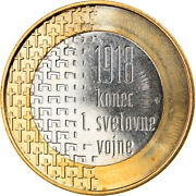 [370574] Slovenia, 3 Euro, End Of The First World War, 2018, Ms63
