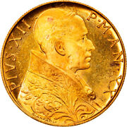 [906580] Coin Vatican City Pius Xii 100 Lire 1958 Roma Ms63 Gold