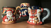 3 Discontinued 3d Storytelling Susan Winget Christmas Holiday Mugs/cups/steins