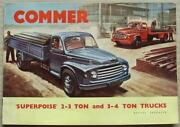 Commer Superpoise 2-3 Ton And 3-4 Ton Trucks Sales Brochure Sept 1956 656