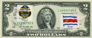 2 Dollars 2013 Stamp Cancel Postal Flag From Costa Rica Value 150