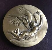 Bruno Lucchesi 1975 Christmas Angel Medal Bronze - 2.5 Inches - Medallic Art Co