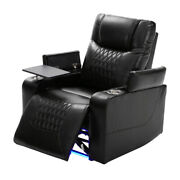 Power Recliner Chair With Usb Port Arm Storage Cup Holders 360anddegswivel Tray Table