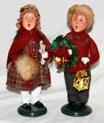 Byers Choice 2021 Boy And Girl Usher Family Carolers - Free Priority Shipping