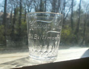 Harvest King Old Baltimore Rye For Private Use Pre Pro 1907 Whiskey Shot Glass