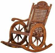 Rocking Chair Wooden Rocking Seasaw Cradle Swing Chair Rockin Relaxation