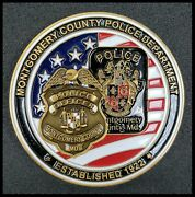 Montgomery County Police Department Challenge Coin Badge Patch Shield Maryland