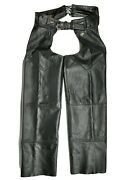 Harley Davidson Woman's Size M 98480-98vw Black Pebbled Leather Motorcycle Chaps