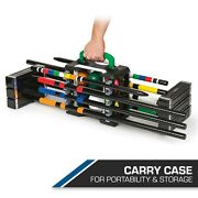 6-player Croquet Lawn Game With Portable Caddy, Perfect Game For Backyard Fun