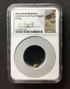 Uss Central America California Gold Rush Nugget Ngc. 0.83 Grams