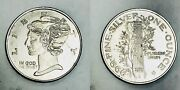 Undated One Ounce .999 Fine Silver 39 Millimeter Liberty Coin