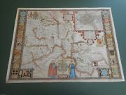 100 Original Large Oxfordshire Map By John Speed C1676 Vgc Hand Colour