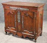 Labarge Solid Oak French Louis Xv Country Style Buffet Server