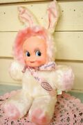 Used Rare Doll Gund Vintage Rubber Face Doll Baby Kewpie Bunny Japan