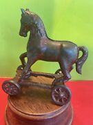 Cast Iron Horse On Wheels Still Bank A.c.williams 1910's Era Very Hard To Find