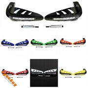 7/8 Motorcycle Handlebar Mounting Hand Guard Wind Protector With Led Light Hot