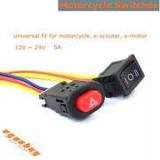 Small Motorcycle Vehicle Universal Light Electric Equipment Switch On/off Button