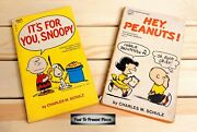 Vintage Lot Of 4 Charles M. Schulz Charlie Brown Snoopy Peanuts Paperback Books