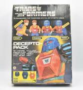 Decepto-pack Costume Backpack G1 Transformers 1984 New W/box Hasbro Vintage