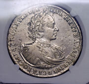 Russia Coin 1 Rouble 1721 Ngc, Xf, Tzar Peter I