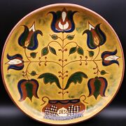 13 Large Antique Hand Painted Majolica Maiolica Platter Tin-glazed Pottery
