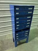 Fastenal Stacking Blue Steel Storage Parts Cabinet W/ Removable Drawers 1